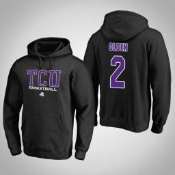 TCU Horned Frogs #2 Shawn Olden Men's Black College Basketball Hoodie