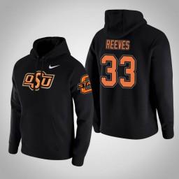Oklahoma St Cowboys #33 Trey Reeves Men's Black College Basketball Hoodie