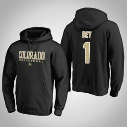 Colorado Buffaloes #1 Tyler Bey Men's Black College Basketball Hoodie