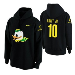 Oregon Ducks #10 Victor Bailey Jr. Men's Black College Basketball Hoodie