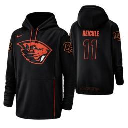 Oregon State Beavers #11 Zach Reichle Men's Black College Basketball Hoodie