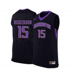 Women's Washington Huskies #15 Noah Dickerson Authentic College Basketball Jersey Black