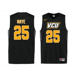 Women's VCU Rams #25 Tyler Maye Authentic College Basketball Jersey Black