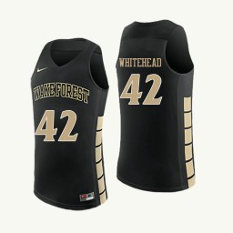 Wake Forest Demon Deacons #42 Tyra Whitehead Authentic College Basketball Jersey Black