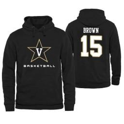 Vanderbilt Commodores #15 Clevon Brown Men's Personalized Black Hoodie
