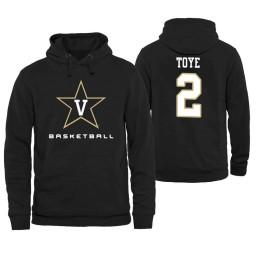 Vanderbilt Commodores #2 Joe Toye Men's Personalized Black Hoodie