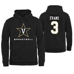 Vanderbilt Commodores #3 Maxwell Evans Men's Personalized Black Hoodie