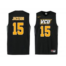 Women's VCU Rams #15 Xavier Jackson Authentic College Basketball Jersey Black