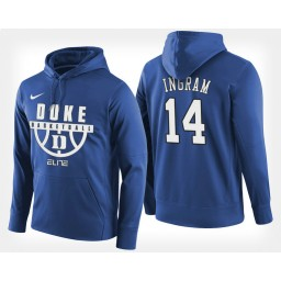 Duke Blue Devils #14 Brandon Ingram Blue Hoodie College Basketball