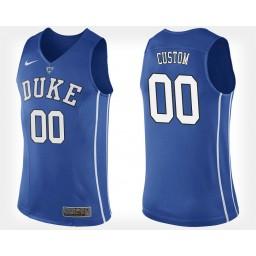 Duke Blue Devils #00 Custom Blue Home Jersey College Basketball