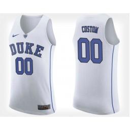 Duke Blue Devils #00 Custom White Road Jersey College Basketball