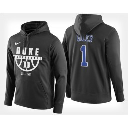 Duke Blue Devils #1 Harry Giles Black Hoodie College Basketball