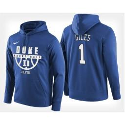 Duke Blue Devils #1 Harry Giles Blue Hoodie College Basketball