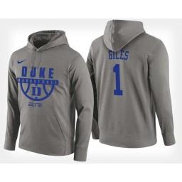 Duke Blue Devils #1 Harry Giles Gray Hoodie College Basketball