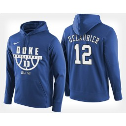 Duke Blue Devils #12 Javin DeLaurier Blue Hoodie College Basketball