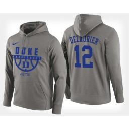 Duke Blue Devils #12 Javin DeLaurier Gray Hoodie College Basketball