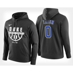 Duke Blue Devils #0 Jayson Tatum Black Hoodie College Basketball