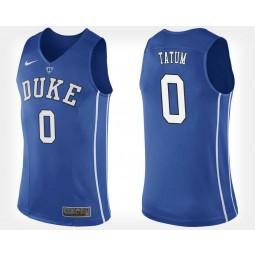 Women's Duke Blue Devils #0 Jayson Tatum Blue Home Authentic College Basketball Jersey