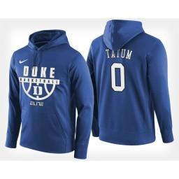 Duke Blue Devils #0 Jayson Tatum Blue Hoodie College Basketball