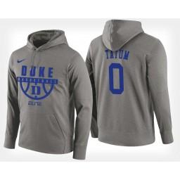 Duke Blue Devils #0 Jayson Tatum Gray Hoodie College Basketball