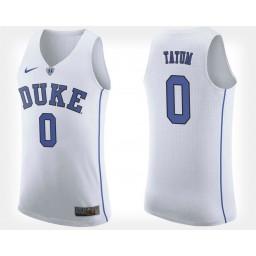Women's Duke Blue Devils #0 Jayson Tatum White Road Authentic College Basketball Jersey