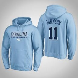 North Carolina Tar Heels #11 Brice Johnson Men's Blue College Basketball Hoodie
