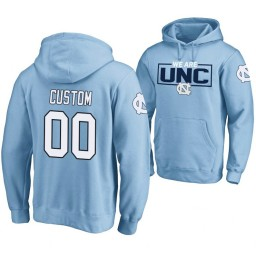 North Carolina Tar Heels #00 Custom Men's Blue College Basketball Hoodie