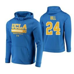 UCLA Bruins #24 Jalen Hill Men's Blue College Basketball Hoodie