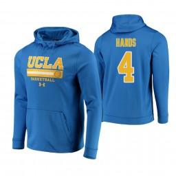 UCLA Bruins #4 Jaylen Hands Men's Blue College Basketball Hoodie