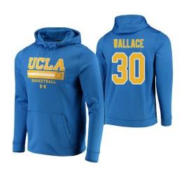 UCLA Bruins #30 Joseph Wallace Men's Blue College Basketball Hoodie