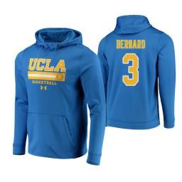UCLA Bruins #3 Jules Bernard Men's Blue College Basketball Hoodie