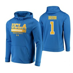 UCLA Bruins #1 Moses Brown Men's Blue College Basketball Hoodie