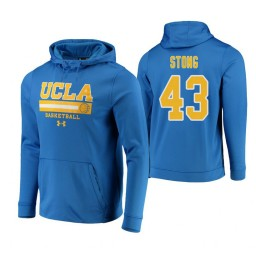 UCLA Bruins #43 Russell Stong Men's Blue College Basketball Hoodie