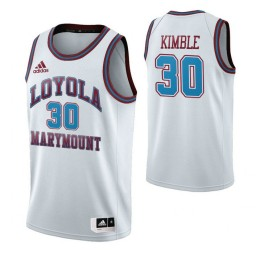 Youth Loyola Marymount Lions 30 Bo Kimble Throwback Authentic College Basketball Jersey White