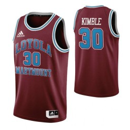 Youth Loyola Marymount Lions 30 Bo Kimble Throwback Authentic College Basketball Jersey Wine
