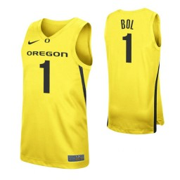 Youth Bol Bol Authentic College Basketball Jersey Yellow Oregon Ducks