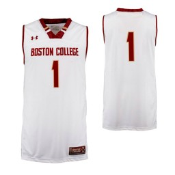 Boston College Eagles #1 Performance Basketball Authentic College Basketball Jersey Cardinal
