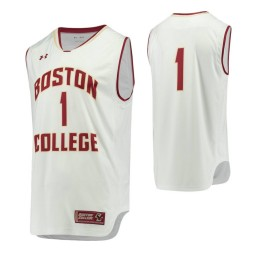 Boston College Eagles #1 Performance Basketball Authentic College Basketball Jersey White