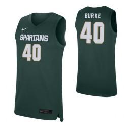 Women's Braden Burke Authentic College Basketball Jersey Green Michigan State Spartans