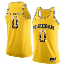 Youth Michigan Wolverines #0 Brent Hibbitts Authentic College Basketball Jersey Yellow