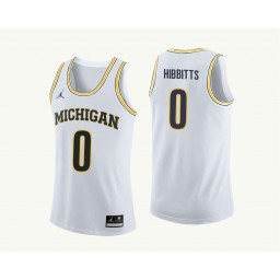 Youth Michigan Wolverines #0 Brent Hibbitts Authentic College Basketball Jersey White