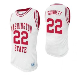 Washington State Cougars #22 Brian Quinnett White Authentic College Basketball Jersey