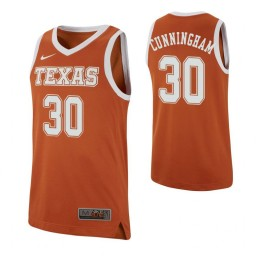 Youth Brock Cunningham Authentic College Basketball Jersey Texas Orange Texas Longhorns