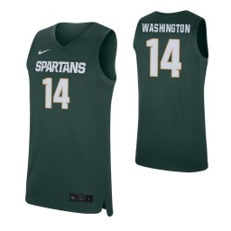 Women's Brock Washington Authentic College Basketball Jersey Green Michigan State Spartans