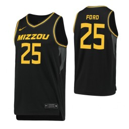 Youth Brooks Ford Authentic College Basketball Jersey Black Missouri Tigers