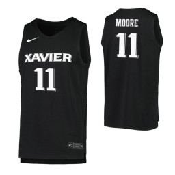 Women's Xavier Musketeers #11 Bryce Moore Black Authentic College Basketball Jersey