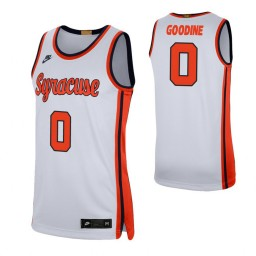 Women's Syracuse Orange #0 Brycen Goodine White Authentic College Basketball Jersey