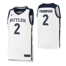 Youth Butler Bulldogs #2 Aaron Thompson White Authentic College Basketball Jersey