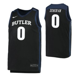 Youth Butler Bulldogs #0 Campbell Donovan Black Authentic College Basketball Jersey