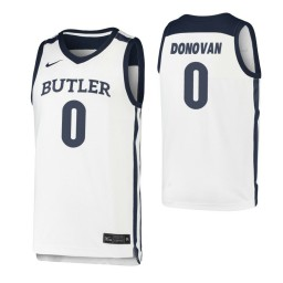Youth Butler Bulldogs #0 Campbell Donovan White Authentic College Basketball Jersey